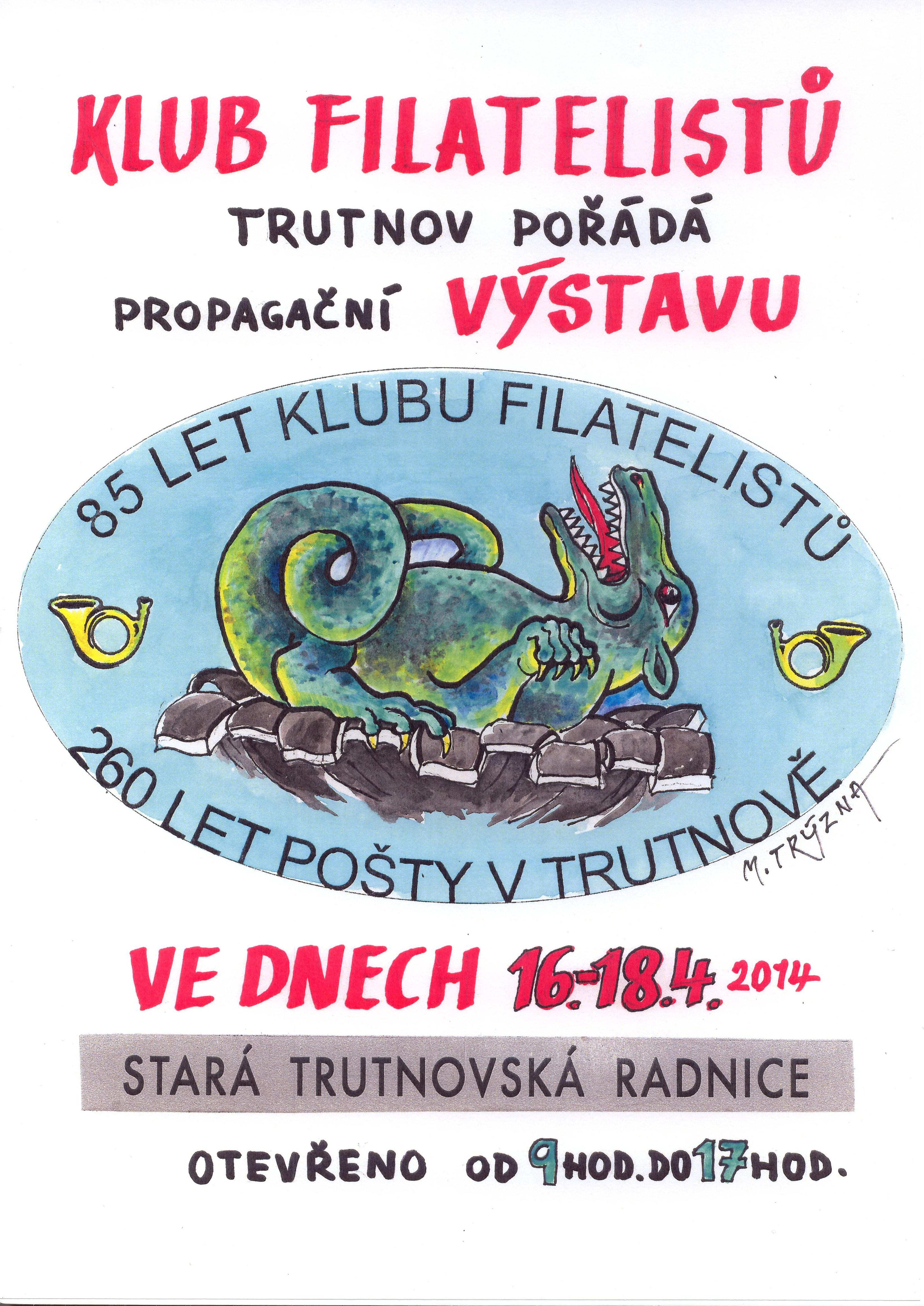 Plakát k Výstavě poštovních známek Trutnov 2014