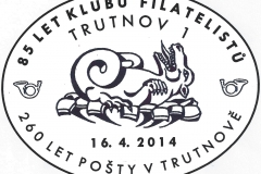 Příležitostné poštovní razítko Trutnov 2014