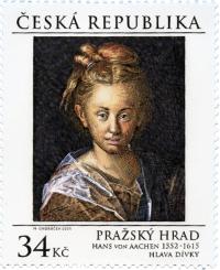 Známka ČR č. 850 - Hans von Aachen: Hlava dívky