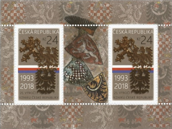 Aršík ČR č. A957 - 25. výročí vzniku ČR