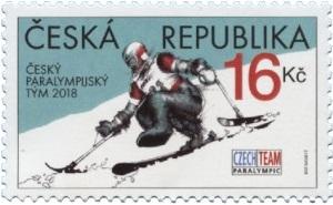 Známka ČR č. 960 k Zimním paralympijským hrám