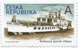 Poštovní známka ČR č. 973 - Kolesový parník Vltava