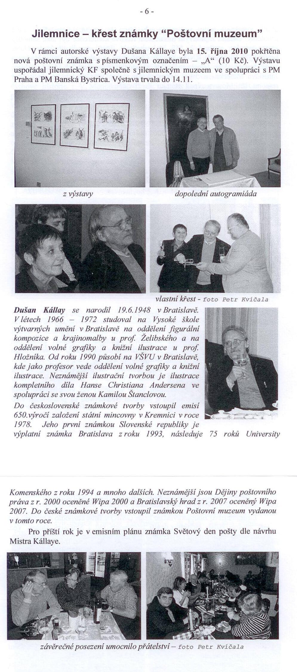 Dušan Kállay v Jilemnici