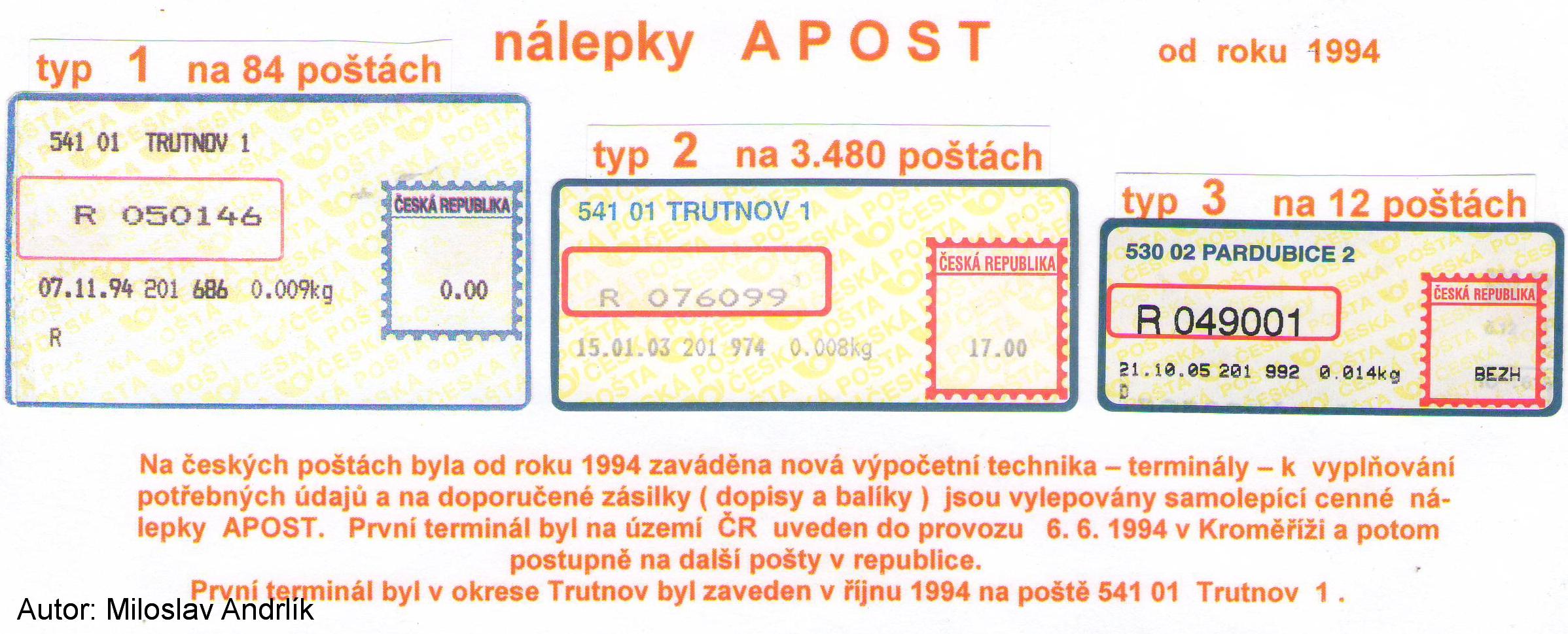 CN Apost pošty Trutnov