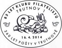 Příležitostné poštovní razítko Trutnov 2014