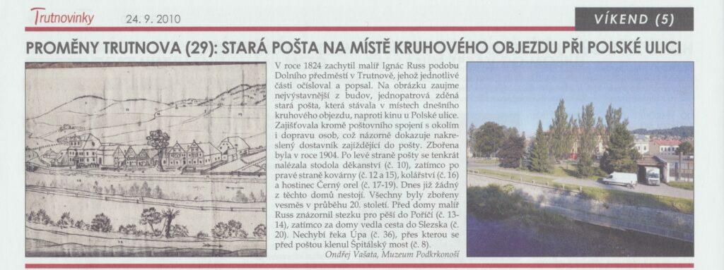 Trutnovinky: Stará pošta na polské