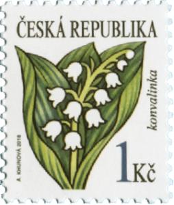 Poštovní známka ČR č. 986 - Konvalinka