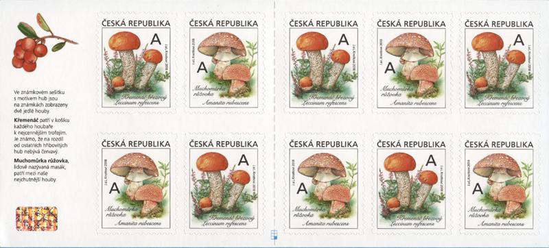 Poštovní sešitek č. VZS26 - Jedlé houby