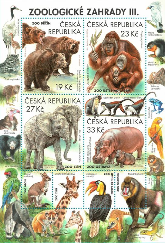 Aršík ČR č. A991-994 - Zoologické zahrady III