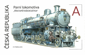 Poštovní známka ČR č. 995 - Parní lokomotiva 365.024