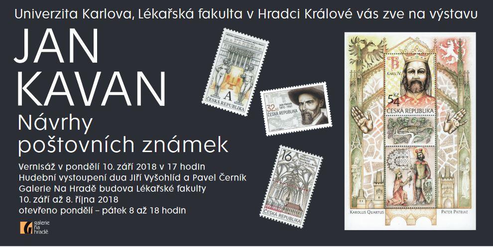 Výstava Jan Kavan: Návrhy poštovních známek