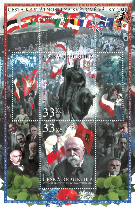 Aršík ČR č. A998-999 - Boj o českou státnost 1918