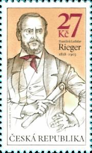 Známka ČR č. 1006 - František Ladislav Rieger