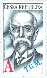 Známka ČR č. 1013 - Tomáš Garrigue Masaryk