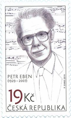 Známka ČR č. 1017 - Petr Eben