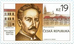 Známka ČR č. 1021 - Rudolf Tomáš Jedlička