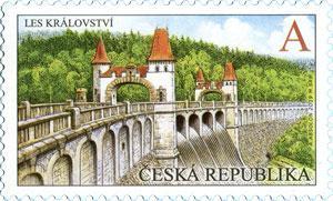 Známka ČR č. 1022 - Přehrada Les Království