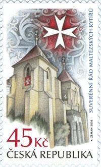 Známka ČR č. 1023 - Suverénní řád maltézských rytířů