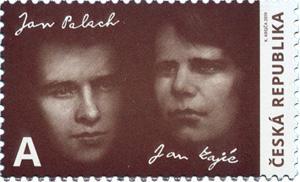 Poštovní známka ČR č. 1035 - Jan Palach a Jan Zajíc