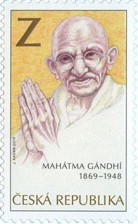 Poštovní známka ČR č. 1037 - Móhandás Karamčand Gándhí