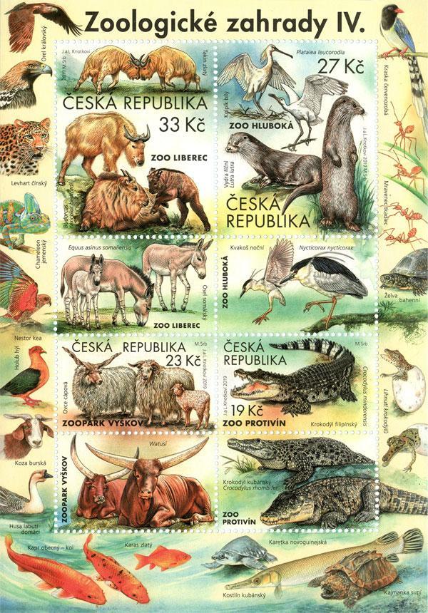 Aršík ČR č. A1038-1041 - Zoologické zahrady IV