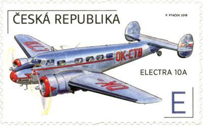 Známka ČR č. 1042 - Letadlo Electra 10A