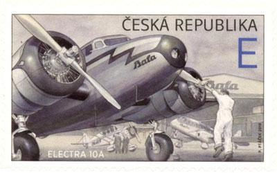 Známka ČR č. 1043 - Letadlo Electra 10A