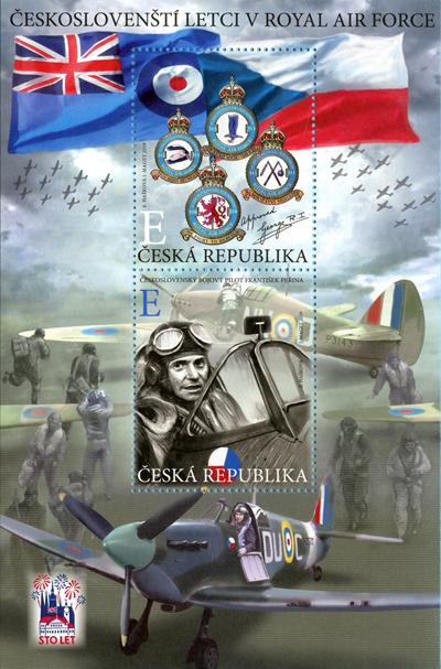 Aršík známek ČR č. A1046-1047 - Českoslovenští letci v RAF