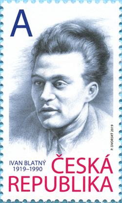 Známka ČR č. 1052 - Ivan Blatný
