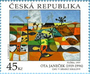 Známka ČR č. 1054 - Ota Janeček: Flóra