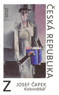 Známka ČR č. 1058 - Josef Čapek: Kolovrátkář