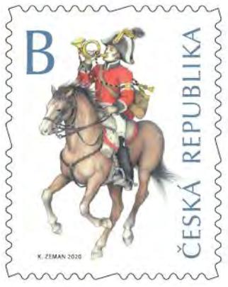 Poštovní známka ČR č. 1060 - Poštovní uniformy
