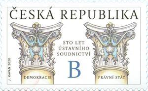 Známka ČR č. 1063 - 100 let ústavního soudnictví
