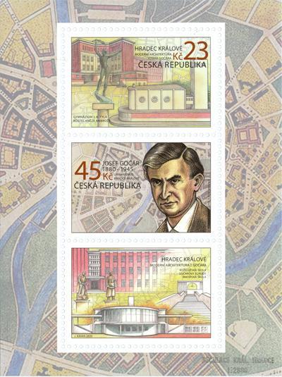 Aršík známek ČR č. A1065/1066 - Jan Gočár a architektura Hradce Králové