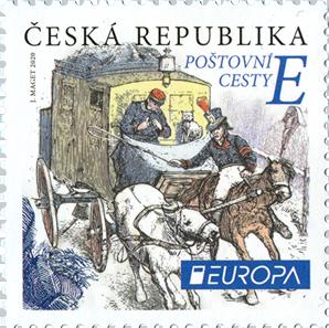 Poštovní známka ČR č. 1070 - EUROPA: Poštovní cesty