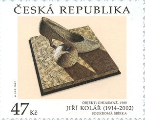Poštovní známka ČR č. 1073 - Jiří Kolář: Objekt