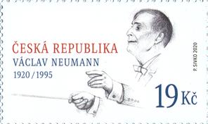 Poštovní známka ČR č. 1074 - Václav Neumann