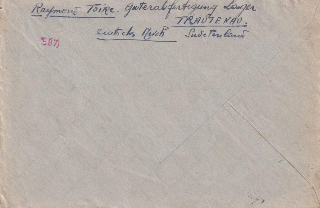 Dopis z Trutnova paní Toire do Francie