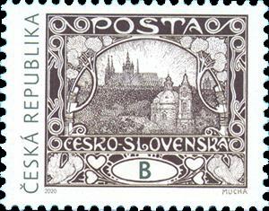 Poštovní známka ČR č. 1088 - Alfons Mucha: Hradčany