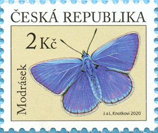 Známka ČR č. 1093: Modrásek jehlicový
