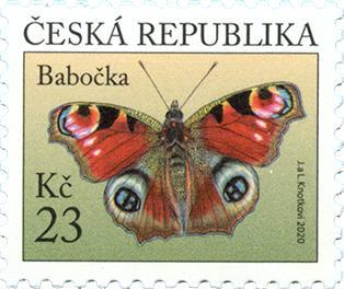 Poštovní známka ČR č. 1103 - Babočka paví oko